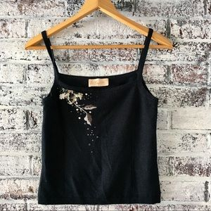 Vintage 1950's sweater tank with sequins